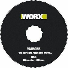 WORX WA5055 80mm HSS Blade for Sonicrafter/Oscillating Tool/Multi-Tool