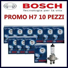5 COPPIE 10 PEZZI LAMPADE LAMPADINE PER AUTO MOTO H7 BOSCH 12V 55W ALOGENE FARI