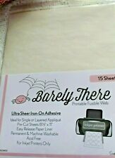Barely There Printable Fusible Web 15 Sheets Swirly Girls Design Studio