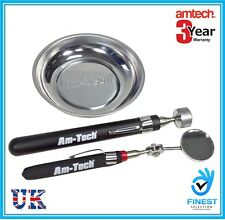 3pc Kit Magnetic Steel Tray Telescopic PickUp Tool Inspection Mirror Set