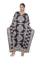 Kaftan Women Plus Size Maxi Black Paisley Cover Plus Womens Summer Long dress
