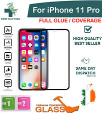 For iPhone 11 Pro Tempered Glass 5D Curved Screen Protector Full Coverage Glue