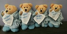 "Mini Plush Blue Bear Lot ""Get Well Soon"" Robe & Slippers"