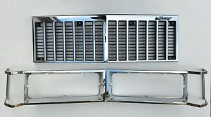 1983-1987 Mercury Grand Marquis OEM Factory Chrome Grille & Headlight Bezels