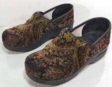 DANSKO Women 38 Velvet Leather 7.5 / 8 US Slip On Work Comfort  Clogs Shoes