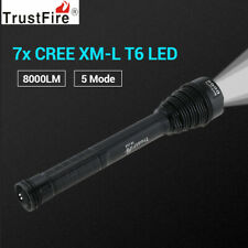 Portable TrustFire 8000LM Cree XML 7 T6 LEDs Tactical Flashlight Torch +Holster