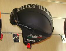 Casco in pelle Vintage Personalizzabile nei Colori Loghi Vespa Harley Davidson