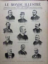 LE MONDE ILLUSTRE 1899 N 2205  LE NOUVEAU MINISTERE DE M. WALDECK- ROUSSEAU