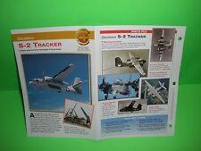 GRUMMAN S-2 TRACKER AIRCRAFT FACTS CARD AIRPLANE BOOK 150