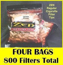 FOUR BAGS ZEN Regular Size Cigarette Filter Tips - 200 per bag - 800 TOTAL