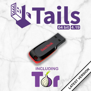 Tails Linux 4.19 Live Bootable USB Drive - Securely Browse Internet Anonymously