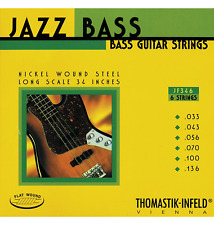 Thomastik-Infeld JF346 T-I Jazz Flatwound Bass Guitar Strings - Long Scale - 6-S