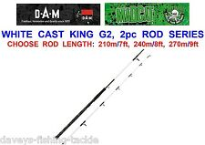 2017 DAM MAD CAT WHITE CAST KING ROD NANO CARBON 2pc CATFISH ROD LURE SPINNING