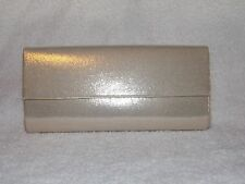 Bare Minerals GOLD LAME Luxe Flap Clutch Cosmetic Makeup Bag New