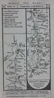 Original antique map SOMERSET, WELLS, GLOUCESTERSHIRE, BERKSHIRE, Paterson 1785