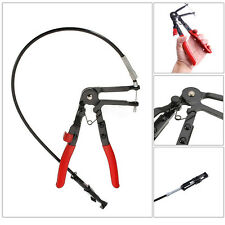 Flexible Long Reach Locking Hose Clamp Removal Pliers Ratchet Tool Clip Band uk
