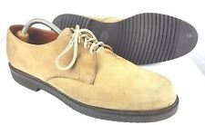 E.T. Wright Men's 12 B Suede Tan Oxford Dress Shoes 601056 MADE IN ITALY