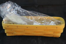 Longaberger New Maple Leaf Yellow Cracker Basket Set with Dws Protector