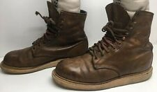 VTG MENS RED WING STEEL TOE WORK BROWN BOOTS SIZE 10 D