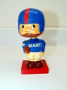 Vintage 1960'S New York Giants Bobble Head - Square Red Wooden Base/Japan