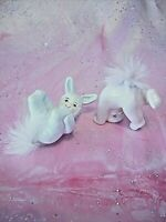 *SUPER RARE VTG* Japan Easter Boy Girl Pink Blue Bunny Rabbit Angel Kid Figurine
