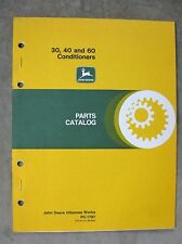 John Deere 30, 40, 60 Series Hay Conditioner Parts Catalog Manual Original
