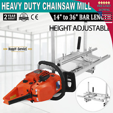"""Chainsaw Mill 14""""-36"""" Portable Chain Saw Mill Aluminum Steel Planking Lumber Log"""