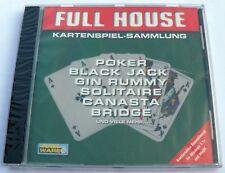 NEU: ~Full House~ Kartenspiel-Sammlung PC Classic WIN 3.1/95 Versiegelt