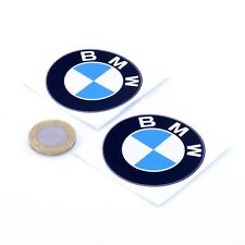 BMW Badge Stickers Décalque En Vinyle Voiture 50 mm x2 Moto Course Racing Rally