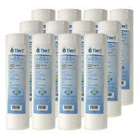 10 x 2.5 Inch 5 Micron Spun Wound Polypropylene Sediment Water Filter 12 Pack