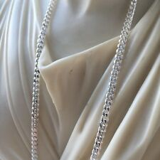 Mens Tight Curb Cuban Link Chain Necklace 3mm 15GR 24 Inch 925 Sterling Silver