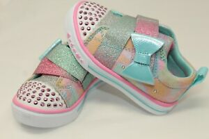 NWT S Sport SKECHERS Girls Toddler Pastel Light Up Shoes Sneakers Size 9,10,11