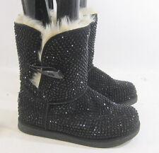 Urban Glitter black Rhinestones winter ankle sexy boot  Size. 7