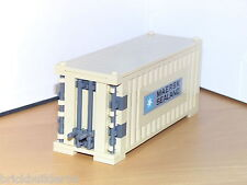 LEGO MAERSK LINE TRAIN SHIP SHIPPING CONTAINER TAN