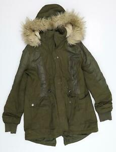 TU Womens Green   Parka Coat Size 14