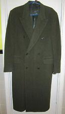 Valentino Uomo 40 S Italy Virgin Wool Olive Green Coat Saks 40S --Superb!