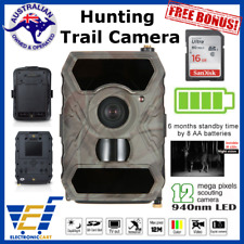 HD Trail Scouting Hunting Camera Security Solar Power Waterproof Night Vision IR