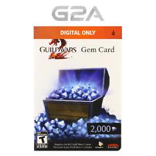 2000 Guild Wars 2 Gem Card Key - 2000 Gems Code for GW2 [CA] [US]
