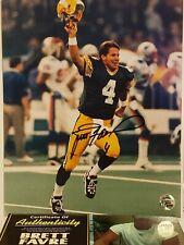 Brett Favre Signed Green Bay Packers 8x10 Photo Inscribed Favre COA & Proof...