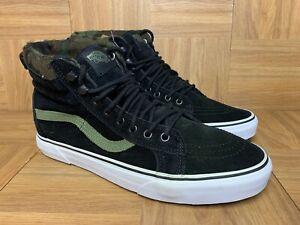 RARE🔥 VANS MTE Sk8-Hi Black Camo Green Army Olive Sz 11 Men's Hikers Sneakers