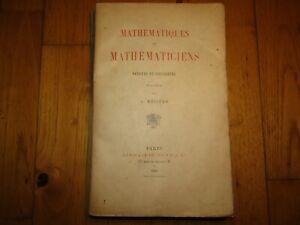 Livre Ancien XIXème 1889 Envoi Autographe Mathématiques & Mathématiciens Rebière