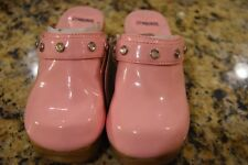 NWT GYMBOREE FAIRY WISHES Patent Leather PINK  CLOGS SIZE 12 NEW