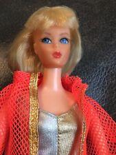 Vintage Blonde Dramatic Living Barbie doll~Orange cover Up #1116~OSS~Booklet EUC