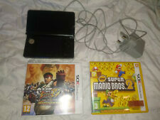 Black Nintendo 3DS console with charger + games bundle - Super Mario Bros 2