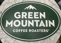 """Green Mountain Coffee"" Double Sided Sign 28""x19""(Read Description)"
