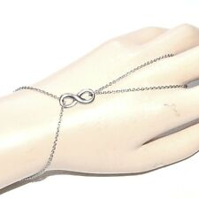 Chaîne de main bracelet bague acier inoxydable motif infini bijou