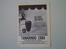 advertising Pubblicità 1961 TAMARINDO ERBA