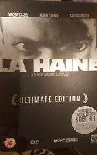 LA HAINE RARE DELETED DVD FRENCH FILM MATHIEU KASSOVITZ STEELBOOK 3-DISC LTD ED