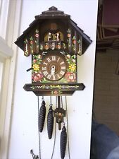 Vintage Hand Painted Gueissaz-Jaccard Edelweiss German cuckoo clock