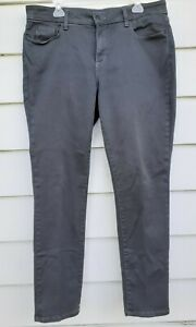 NYDJ Womens Sz 14 Legging Jegging Jeans Mid Rise Lift Tuck Grey Stretch USA
